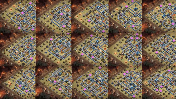 クラクラ【TH13】対戦やリーグ戦で使える対戦配置15個ハッピーセット:コピーリンク付き