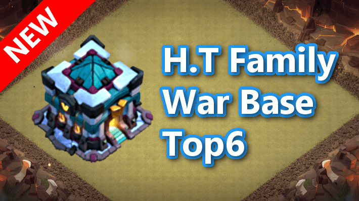 【TH13】H.T Family CWL War Base Top6 2020/9