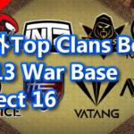 海外Top Clans Best Th13 War Base Select 16