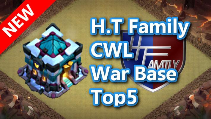 【TH13】H.T Family CWL War Base Top5 ver3 2020/11