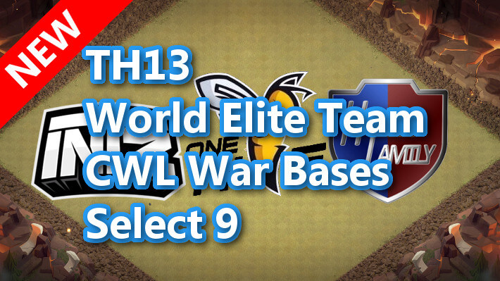 【TH13】World Elite Team CWL War Bases Select 9 2020/12ver2 クラクラ配置 コピーリンク付き