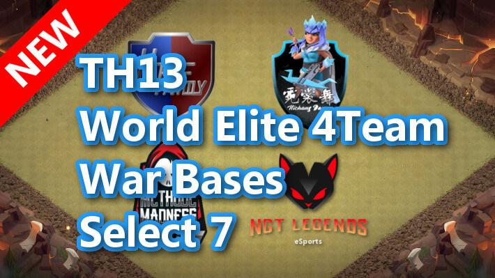 【TH13】World Elite 4Team War Bases Select 7 2021/3 クラクラ配置 コピーリンク付き