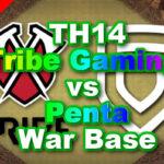【TH14】World Elite 「Tribe Gaming vs Penta」6 War Bases 対戦配置