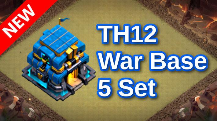 【TH12】対戦配置5個 2021/8 クラクラ配置 コピーリンク付き