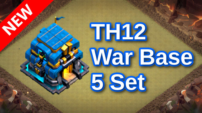 【TH12】対戦配置5個 2021/9 ver2 クラクラ配置 コピーリンク付き