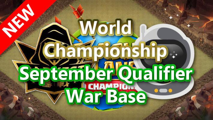 World Championship September Qualifier War Base/9月予選 TH14対戦配置